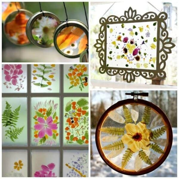 flower suncatcher craft ideas