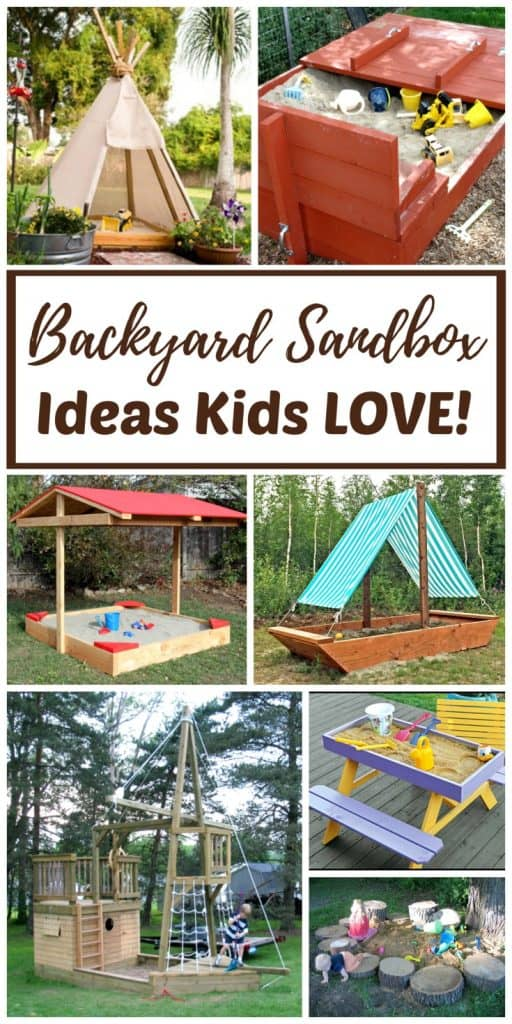 Backyard Play backyard sandbox ideas for kids: the best outdoor sandboxes