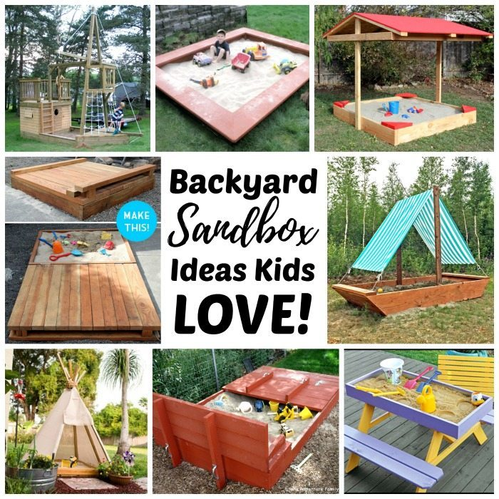Merveilleux DIY Backyard Sandboxes Are Amazing Outdoor Sensory Play Spaces For Kids.  Tips, Tutorials,