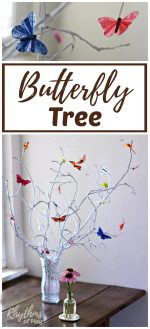 Simple DIY Butterfly Tree Centerpiece
