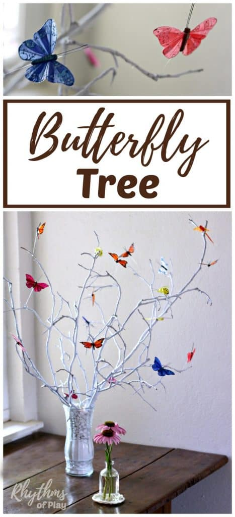 DIY butterfly tree centerpiece for dinning tables and weddings.