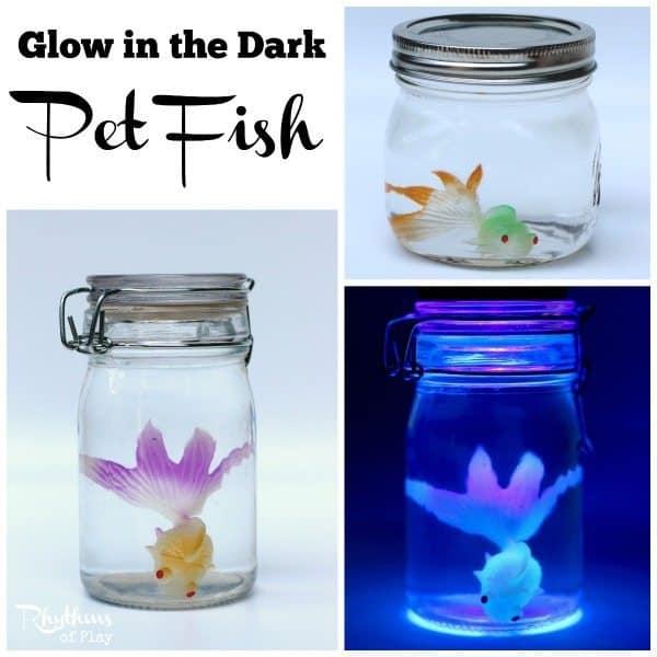 Glow in the dark pet fish sensory bottle rhythms of play for Glow in dark fish