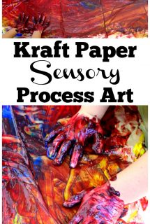 Kraft Paper Sensory Process Art