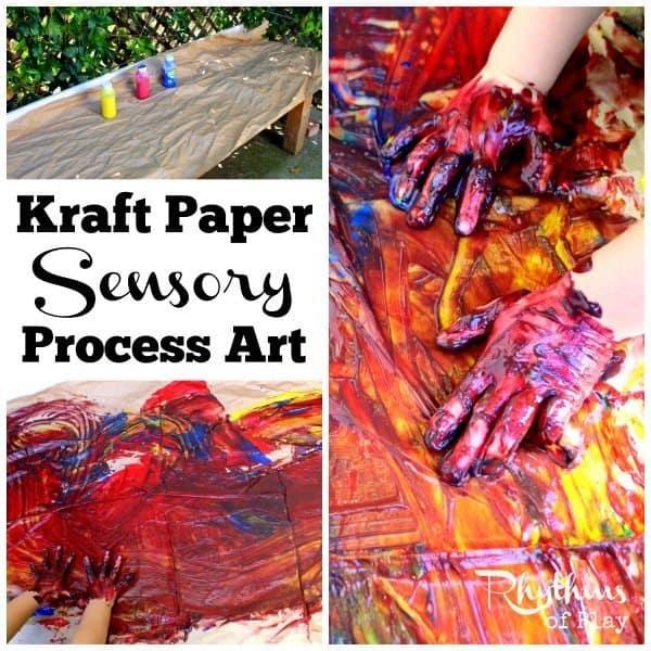 Kraft paper sensory process art sq