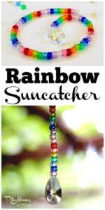 Rainbow Pony Bead Prism Suncatcher