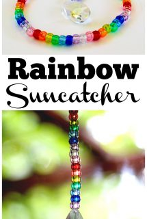 Rainbow Pony Bead Prism Suncatcher