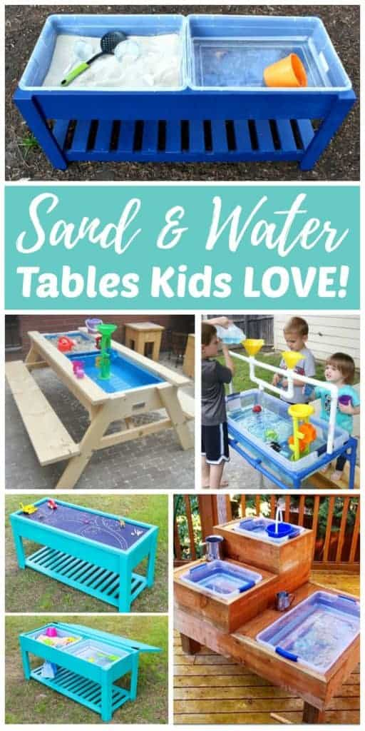DIY Sand & Water Tables Kids LOVE!