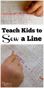 Teach Kids to Sew a Line by Hand
