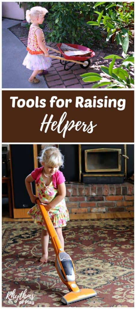 get kids to start helping with the chores with tools for raising helpers!