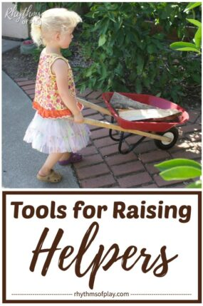 best tools for kids - tools for raising helpers that help with the chores