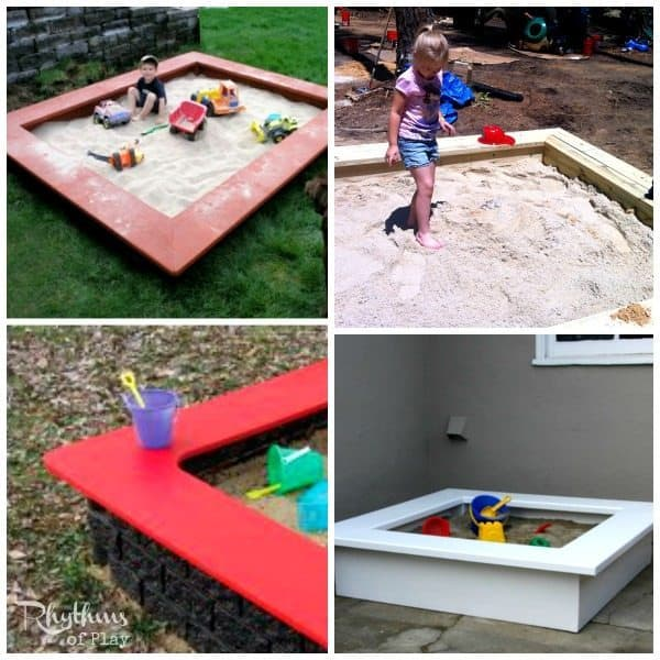 top 10 backyard sandbox ideas seats - Sandbox Design Ideas