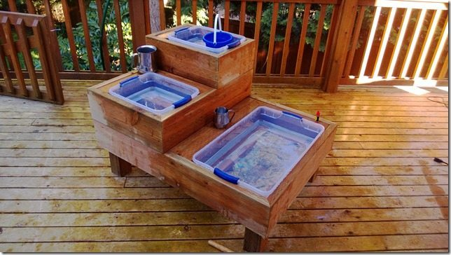 DIY water tables for children