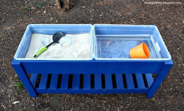 diy sand & water table 2 tml