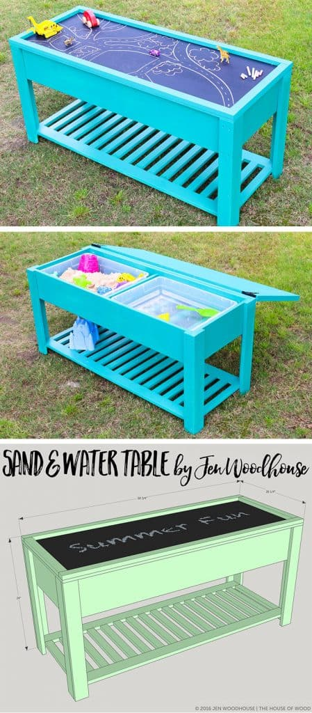 DIY sand water play table for children