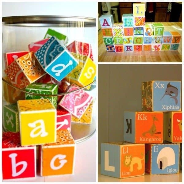 DIY Blocks Alphabet blocks