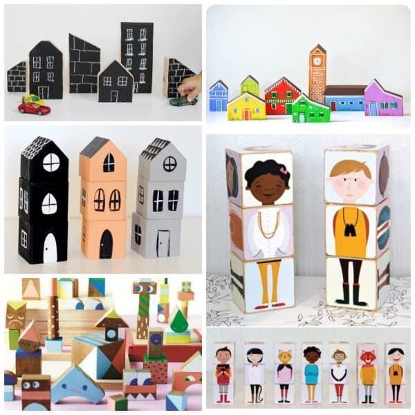 DIY Blocks houses