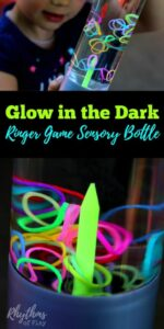 DIY Glow in the Dark Ringer Game Sensory Bottle