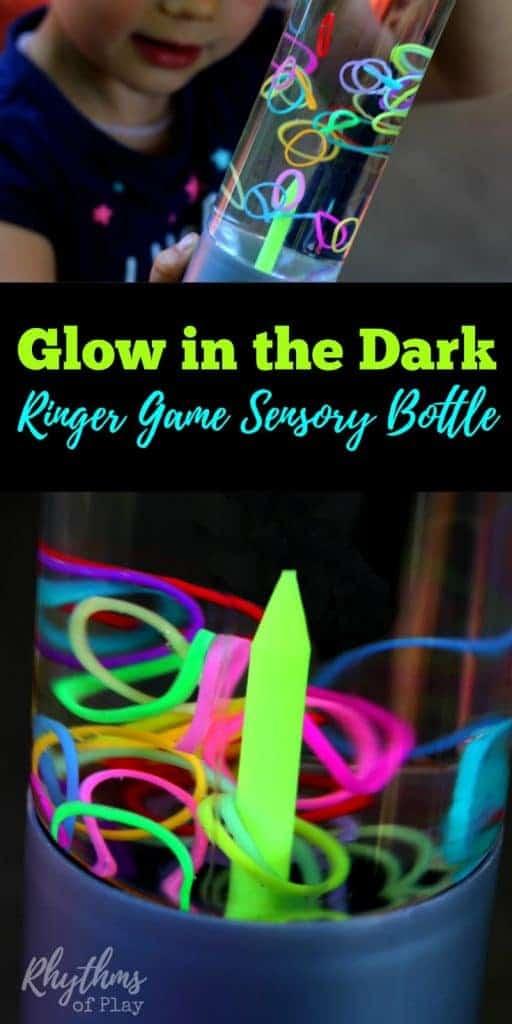 diy glow in the dark ringer game sensory bottle rhythms of play. Black Bedroom Furniture Sets. Home Design Ideas