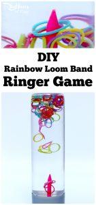 DIY Rainbow Loom Band Ringer Game Sensory Bottle
