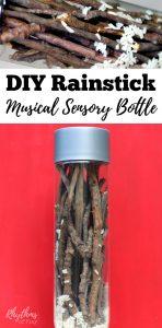 DIY Rainstick Musical Sensory Bottle