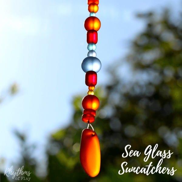 Easy DIY Sea Glass Suncatcher crafts