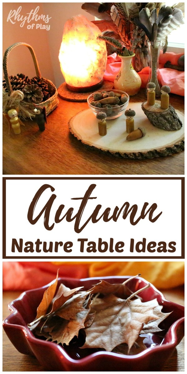 autumn nature table ideas for play based learning