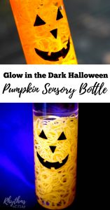 Glow in the Dark Halloween Pumpkin Sensory Bottle