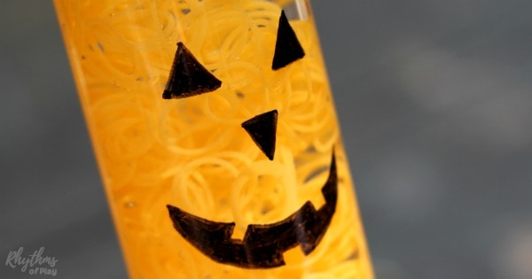 Glow in the Dark Halloween Sensory Bottle fb