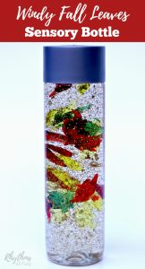 Windy Fall Leaves Sensory Bottle