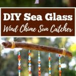 DIY Sea Glass Wind Chime Suncatcher