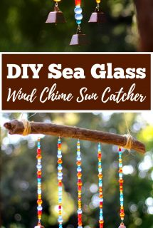 DIY Sea Glass Wind Chime Suncatcher