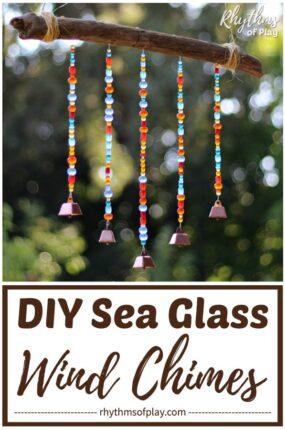 sea glass DIY beaded wind chimes