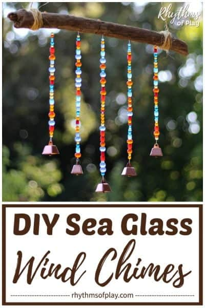 sea glass DIY beaded wind chimes