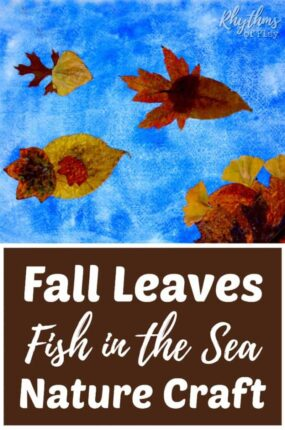 fall leaf fish nature craft - fish art with autumn leaves.
