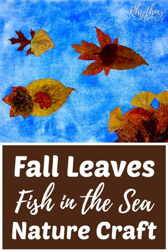 Use real autumn leaves to make these cute fall leaves fish in the sea! An easy handmade nature craft for both kids and adults. Once finished they make a beautiful DIY keepsake gift idea for any occasion!