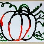 Harvest Pumpkin Watercolor Art Project