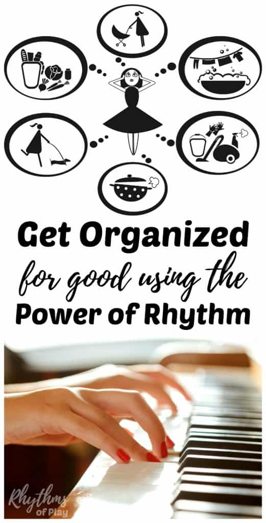 Creating a daily and weekly rhythm is an easy DIY way to get your entire life organized for good! Following a rhythm increases your ability to stay focused, increase productivity and get things done. Click through to download your free printable planner today!