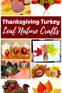 Thanksgiving Turkey Leaf Nature Crafts