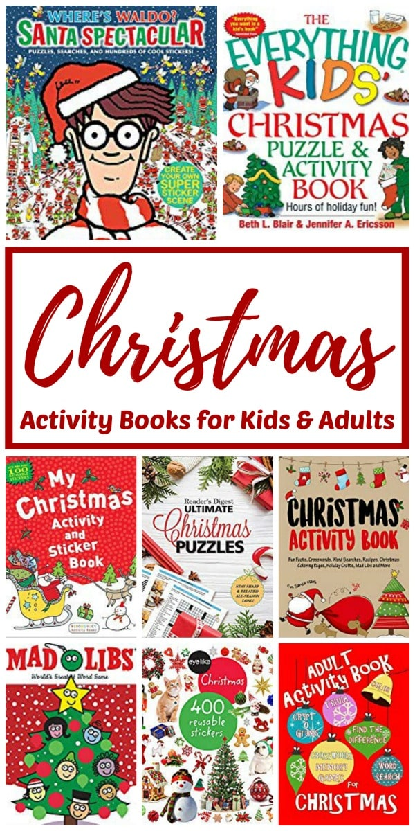 Christmas activity books for children and adults