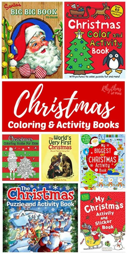 Christmas coloring activity books for kids are a unique gift idea and an easy way to help children relieve stress during the holidays. The holiday season is a wonderful time of year for families, but it can be rough on everyone. Especially on kids with sensitivities and special needs. Kids and adults alike should have resources readily available to help keep the peace. Christmas coloring, puzzle, and sticker activity books like those found in this collection will keep the little monsters tame and happy.