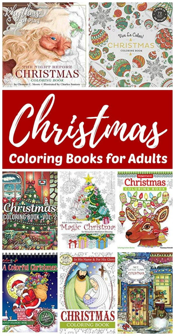Adult coloring books for Christmas