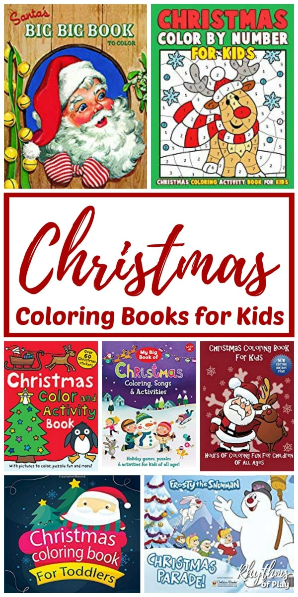 christmas coloring and activity books for children