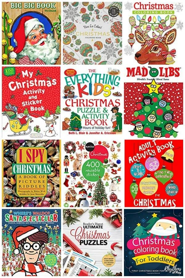 Christmas coloring and activity books for adults and kids