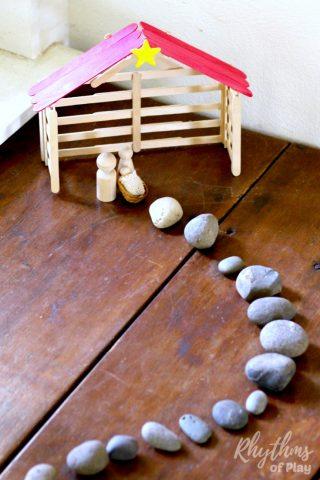 DIY Craft Stick Nativity Stable Tutorial