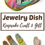 Marbled Clay Jewelry Dish Keepsake Craft and Gift
