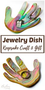 DIY Marbled Clay Jewelry Dish Keepsake Craft and Gift