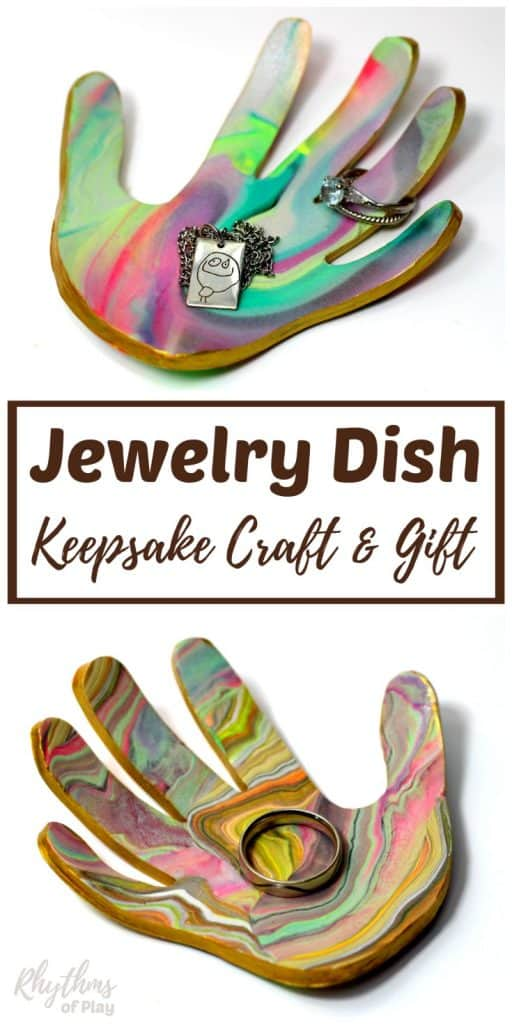 handprint art jewelry dish keepsake craft