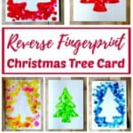 Reverse Fingerprint Christmas Tree Card