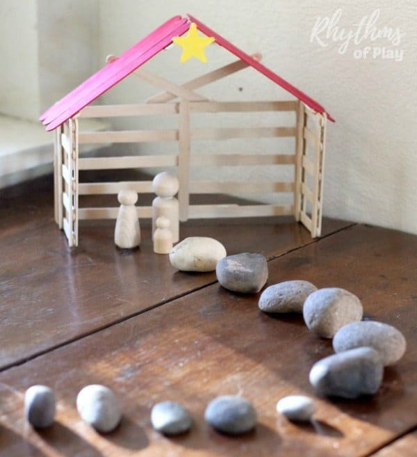 Simple Stone Advent Calendar Nativity Scene Rhythms Of Play