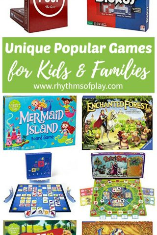 Unique Popular Board Games for Kids and Families